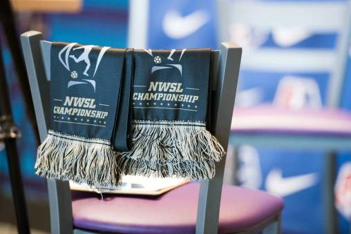 Scarves for the 2017 NWSL Championship. (Monica Simoes)