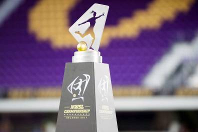The NWSL Championship Trophy. (Monica Simoes)