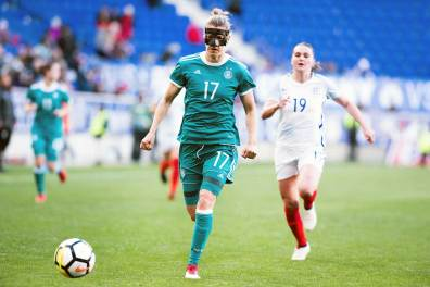 Germany's Verena Faisst making a getaway during the 2018 SheBelieves Cup. (Monica Simoes)
