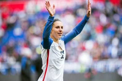 Carli Lloyd during the 2018 SheBelieves Cup. (Monica Simoes)