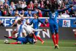 Action during the USA-France match at the 2018 SheBelieves Cup. (Monica Simoes)