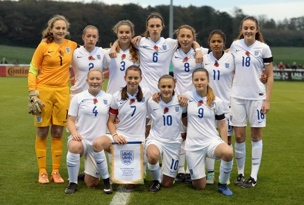 Alessia Russo with the England youth team.