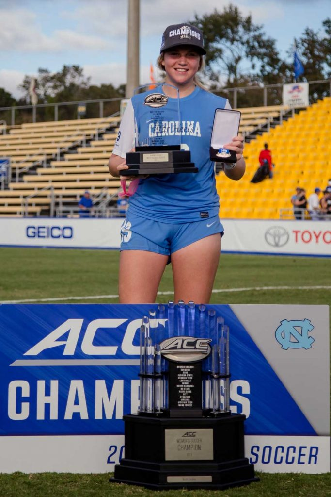 Alessia Russo with trophy while with University of North Carolina. (Alessia Russo)
