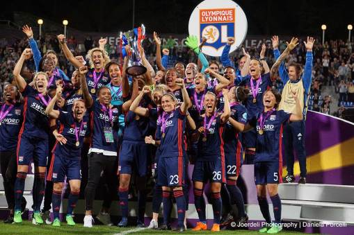Olympique Lyon, winners of the 2018 Champions League title. (Daniela Porcelli)