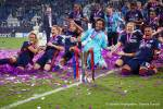 Slidin' into your DMs as Champions League winners. (Daniela Porcelli)