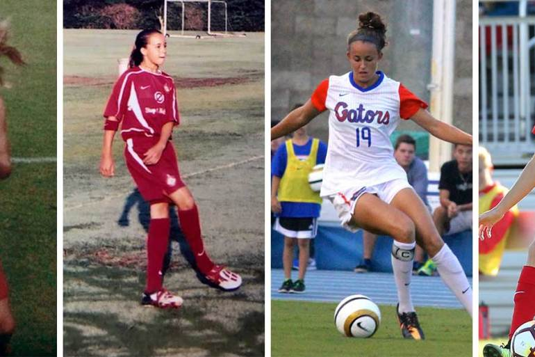 Havana Solaun through the years, from pee-wee soccer to Washington Spirit.