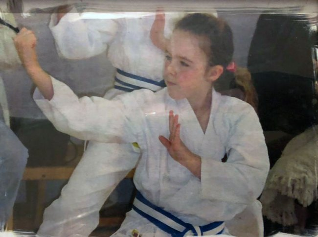 Kirstie Levell, young black belt in training. (Photo courtesy of Kirstie Levell)