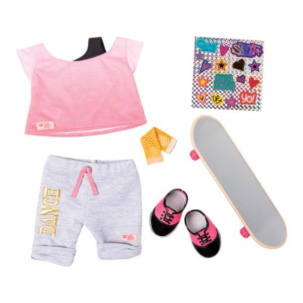 Our Generation Regular Skateboard OG Fly Outfit