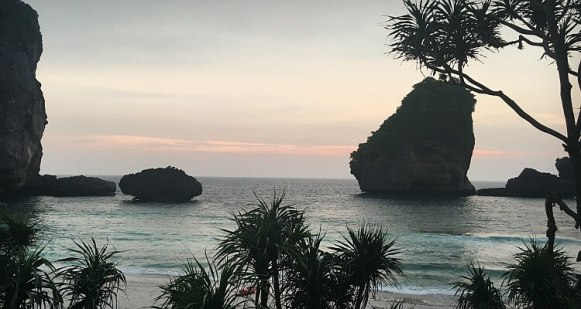 Sunset over Nui Bay