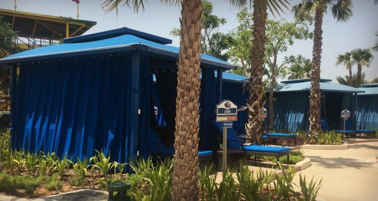 Legoland Water Park Dubai family review - Cabana rentals