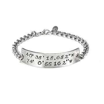 Latitiude and longitude bracelet
