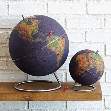 Push pin globes