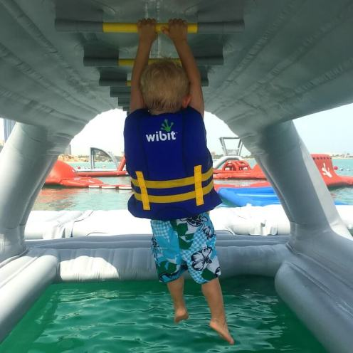 AquaFun Abu Dhabi Corniche inflatable play park | Review by Our Globetrotters