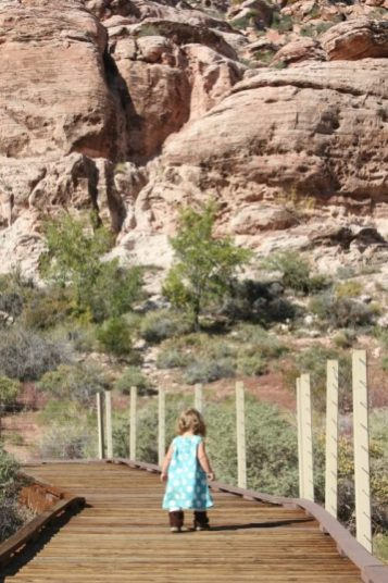 Path at Calico Basin | Las Vegas Day Trips with kids
