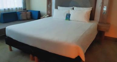 Master bedroom | Novotel World Trade Centre Dubai Family Review