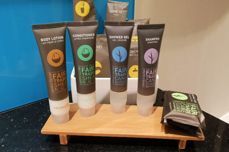 Fair Trade Bathroom products   Novotel World Trade Centre Dubai Family Review