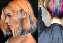rainbow hair color