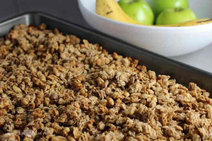 Banana granola with coconut makes a healthy, hearty, delicious breakfast, and is great for guilt-free snacking.