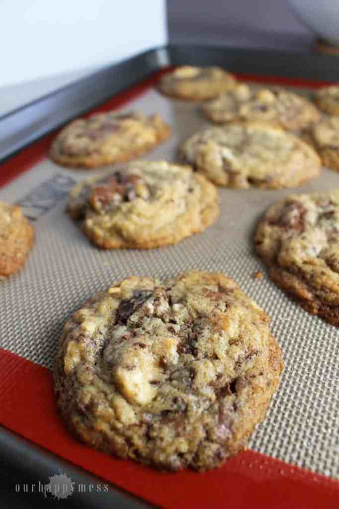 These brown sugar chocolate chip cookies are tender with a chewy interior, slightly crispy edges, and amazing caramelized flavor.