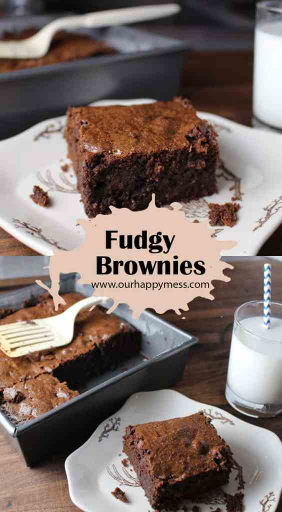 These decadent brownies are thick, moist and fudgy. A little more trouble than a box mix, but so worth it!