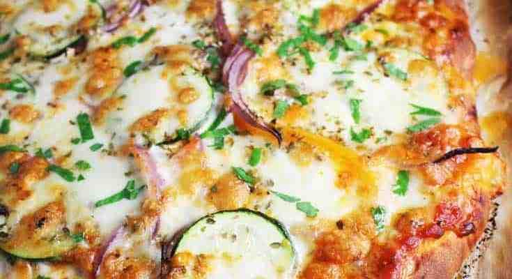 Veggie Pizza Recipe with Homemade Crust