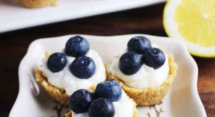 Mini No-Bake Lemon Cheesecake Tarts