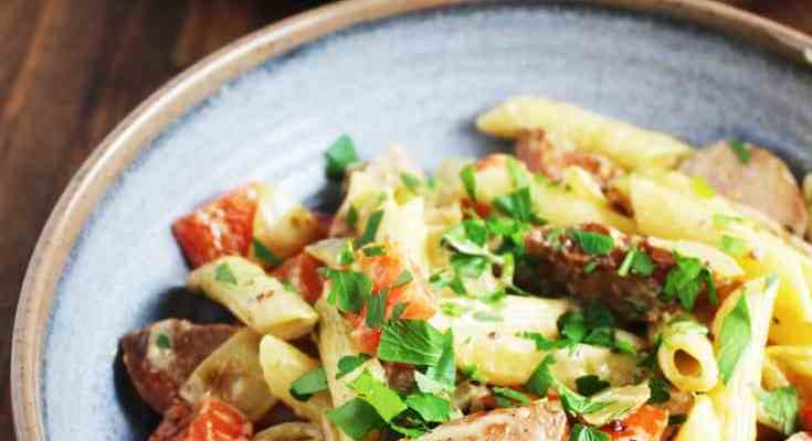 Easy Sausage and Vegetable Pasta Skillet