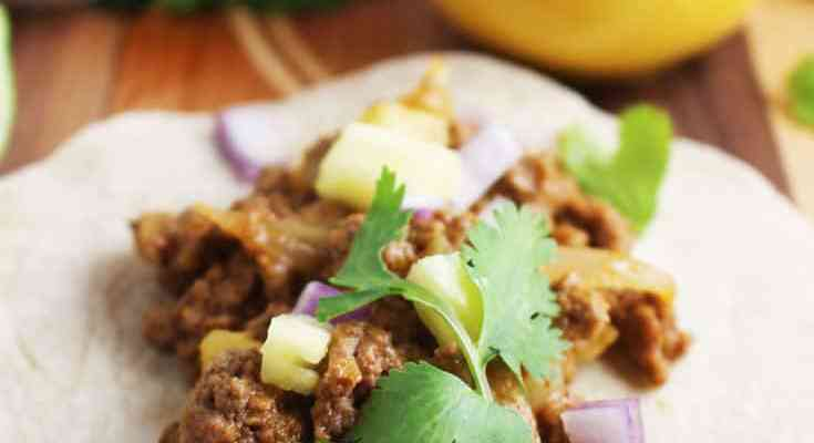 Ground Beef Tacos, Al Pastor-Style