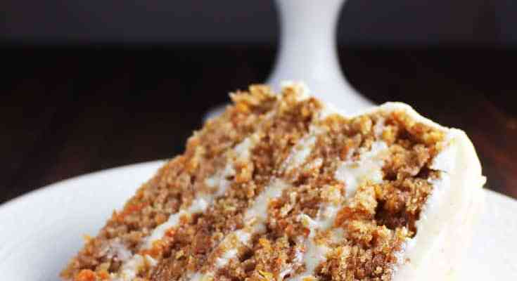 Moist Carrot Cake with Brown Butter Cream Cheese Frosting