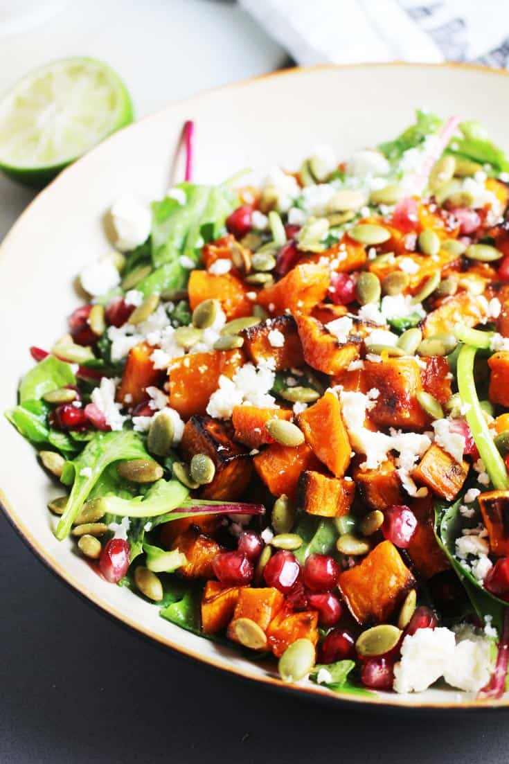 images Roasted Sweet Potato and Almond Salad Recipe