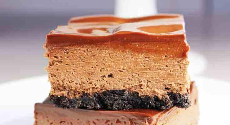 Triple Chocolate Cheesecake Bars