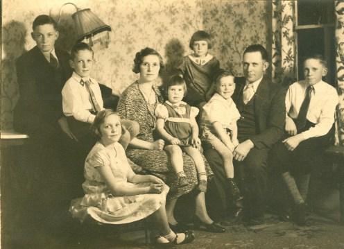 Verda and Aden Springsteen with John, Ed, Lorna, Loretta, Madge, Harold and Donovan