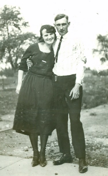Rose Karel and Joseph Dlouhy, 1921