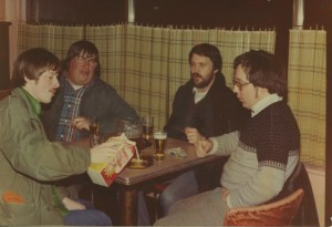 Kevin Springsteen, Ray Petersen, Mike Springsteen, and Ed Springsteen in Jim's Tavern