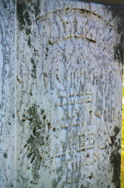 Sharp Cemetery, Anna Springsteen inscription