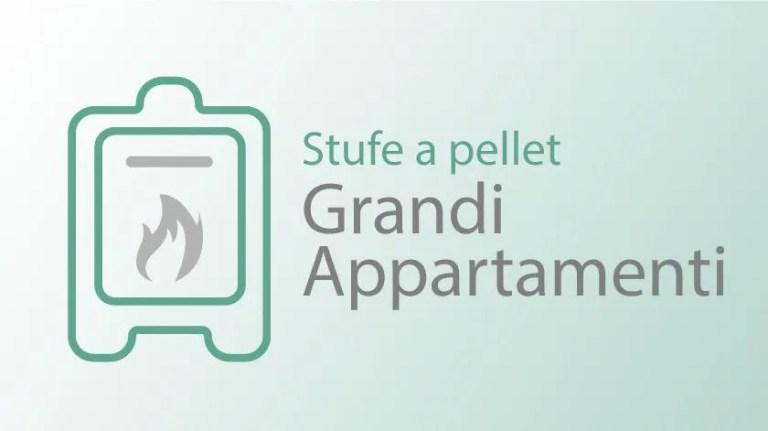 Stufa e pellet grandi appartamenti