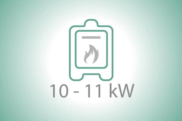 Stufe a pellet da 10 a 11 kW