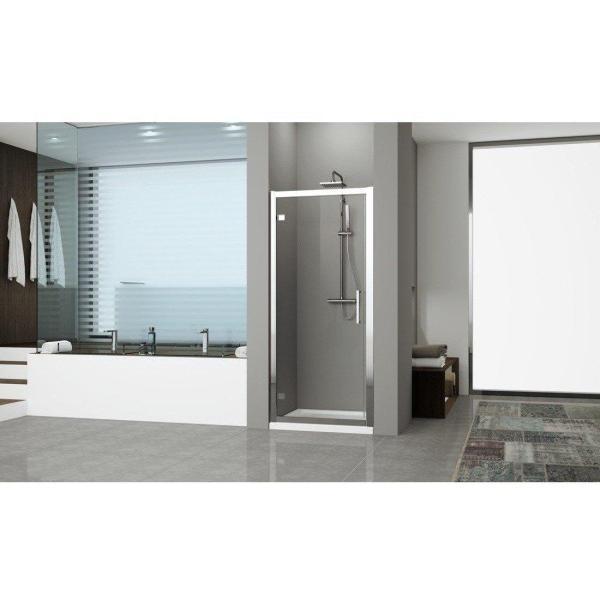 Box doccia rettangolare 90x100 porta battente e lato fisso Kuadra 2.0