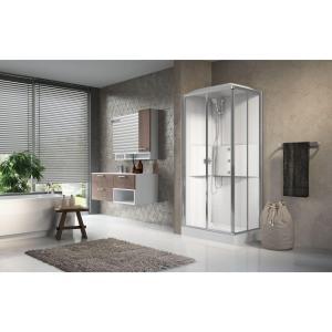 Cabina doccia idromassaggio rettangolare 70x100 porte scorrevoli Media 2.0