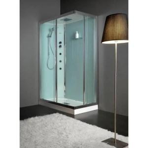 Cabina doccia rettangolare 70x90 porte scorrevoli Essential Idro