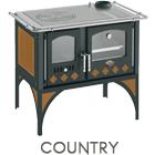 Cucina a legna Country potenza 7,6 kW refrattario
