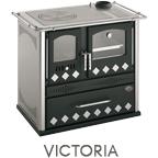 Cucina a legna Victoria potenza 7,6 kW pietra ollare - inserimento