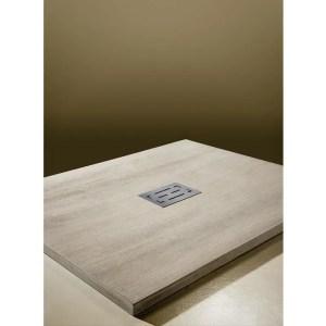 Piatto doccia rettangolare effetto legno Scultura