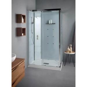 Cabina doccia rettangolare 70x90 porte scorrevoli White SPAce Idro