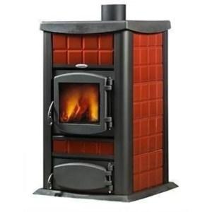 Termo stufa a legna con caldaia Italia 30 idro certificata potenza 30 kW