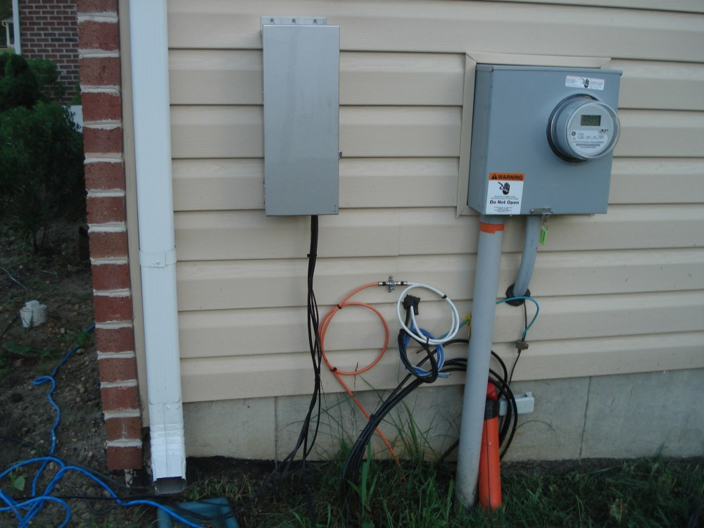 medium resolution of outdoor electrical wiring house wiring diagram used outside electric meter diagram