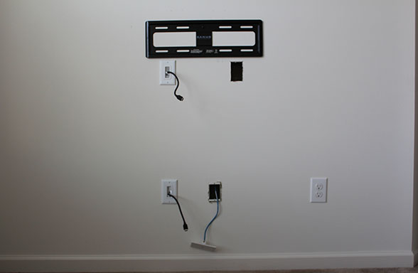 Wiring Up A Wall Mounted Tv