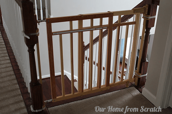 Image Of Regalo 2 In 1 Extra Tall Top Stairs Gate. Hardware Mounted Baby  Gates Top Of Stairs Walk Through Metal