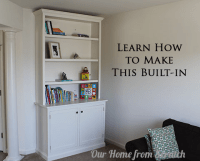 Build DIY Built in bookcases cabinets plans Plans Wooden ...