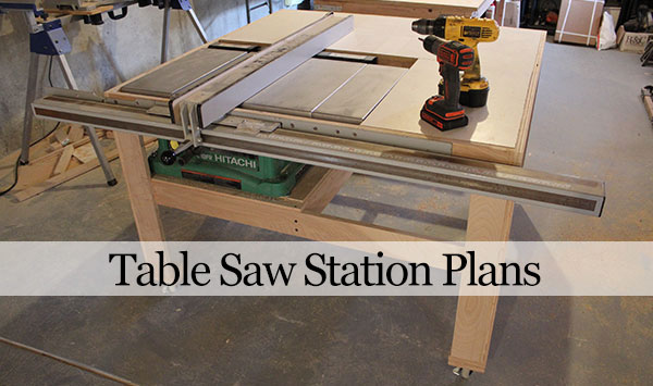 Table Saw Workbench Woodworking Plans